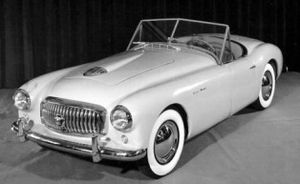 Nash-Healey - Image: 1951 Nash Healey PR photo