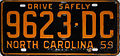 1959 North Carolina license plate.JPG