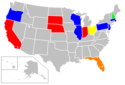 United States Presidential Election Wikipedia - Change map of 1968 us