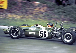 Emerson Fittipaldi - Emerson in the Jim Russell Racing Drivers School F3 Lotus 59 in the 1969 F3 Guards Trophy at Brands Hatch