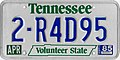 1985 Tennessee license plate 2-R4D95.jpg