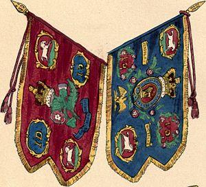 1st The Royal Dragoons - Regimental guidons, 1840