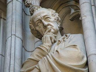 St Lambert's Church, Münster - Johann Wolfgang von Goethe on the west facade