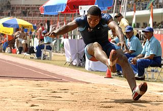 Long jump track and field event