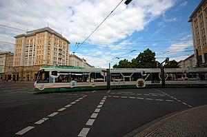 Trams in Magdeburg - An NGT8D tram in Magdeburg, 2010.