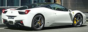 English: 2010–2011 Ferrari 458 Italia coupe, p...