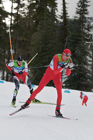 Magnus Moan - Image: 2010 Winter Olympics Magnus Moan and Felix Gottwald in nordic combined NH10km