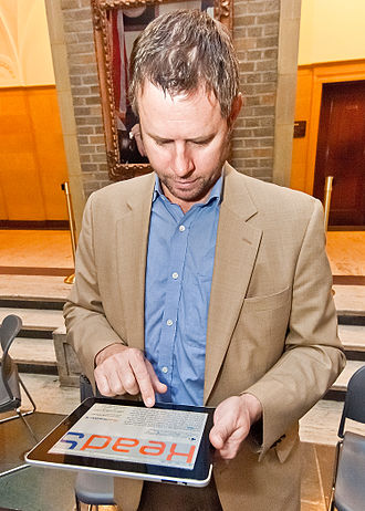Section 508 Amendment to the Rehabilitation Act of 1973 - Chief Operations Officer of FEDVC Torsten Oberst demonstrates how their software reads any web content/text into an audio Cloud service at the U. S. Department of Agriculture (USDA) Section 508 and Disability Awareness Program in Washington, DC, on Monday, October 31, 2011