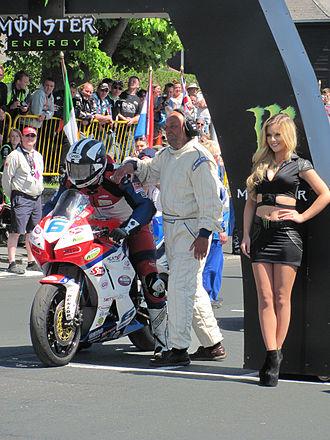 Junior TT - 2013 Isle of Man TT Supersport TT Race 2 Michael Dunlop (6), 600cc Honda TT Grandstand 5 June 2013