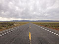 2014-09-08 13 39 44 View west along U.S. Route 50 about 19.3 miles east of the Churchill County line in Lander County, Nevada.JPG
