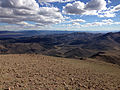 2014-10-19 15 08 23 View southeast towards Meadow Canyon from about 10560 feet along the trail between Jefferson Summit and the south summit of Mount Jefferson, Nevada.JPG