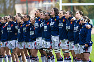 France women's national rugby union team - Image: 2014 Women's Six Nations Championship France vs Italy (1)