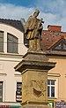 2015 Rybnik, Rynek, Fontanna z figurą św. Jana Nepomucena 04.jpg