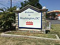 """2016-09-07 12 31 59 """"Welcome to Washington D.C."""" sign at the north end of Maryland State Route 210 (Indian Head Highway) and the south end of South Capitol Street, entering Washington, D.C. from Glassmanor, Prince Georges County, Maryland.jpg"""
