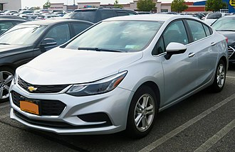 Compact car - Chevrolet Cruze   (2016-present model shown)