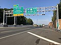 2018-10-02 09 11 55 View south along Interstate 295 (Camden Freeway) just north of Exit 26 (Interstate 76 to Interstate 676, Camden, Philadelphia) in Bellmawr, Camden County, New Jersey.jpg