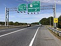 2019-09-23 10 13 00 View west along Maryland State Route 32 (Patuxent Freeway) at Exit 16B (U.S. Route 29 SOUTH, Washington) in Columbia, Howard County, Maryland.jpg