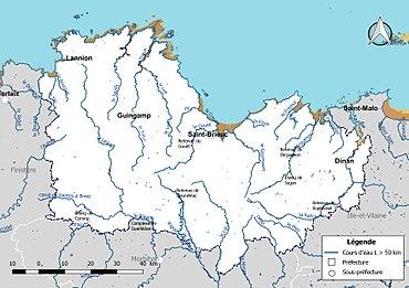 Carte Bretagne Cours Deau.Liste Des Cours D Eau Des Cotes D Armor Wikipedia