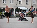 2212 - Salzburg - Mozartplatz - Dancers.JPG