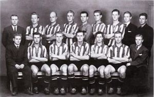 Kotkan Työväen Palloilijat - KTP team which won the Finnish championship in 1951