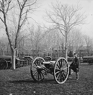 Mathew Brady - Soldier guarding arsenal Washington, D.C., 1862