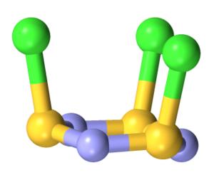 Thiazyl chloride trimer - Image: 30558 ICSD