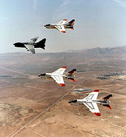 445th Flight Test Squadron A-7D Retirement Flyover