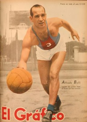 San Lorenzo de Almagro (basketball) - Alfredo Belli, notable player of the club in the 1940s.