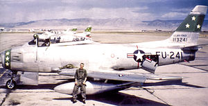 49th Fighter Training Squadron - North American F-86F-25-NH Sabre 51-13241 circa 1953