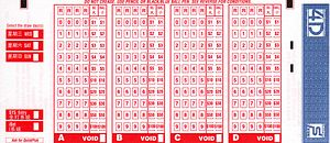 4-Digits - A 4-D betting slip in Singapore