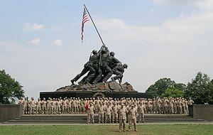 4th Civil Affairs Group - 4th CAG at the USMC War Memorial, Washington, DC in August 2004