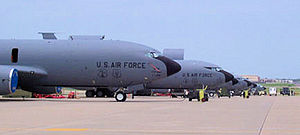 507th Air Refueling Wing - Wing aircraft on the parking apron at Tinker AFB