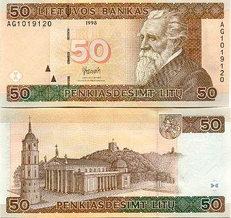 Jonas Basanavičius - Jonas Basanavičius on 50 litas banknote