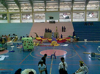 Protpittayapayat School - Image: 50 years Protpittayapayat Indoor Stadium