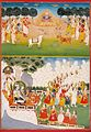 5 Gods offering weapons to Devi. Jaipur, ca. 1800, National Museum New Delhi (2).jpg