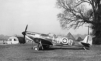 Battle of Britain - X4382, a late production Spitfire Mk I of 602 Squadron flown by P/O Osgood Hanbury, Westhampnett, September 1940