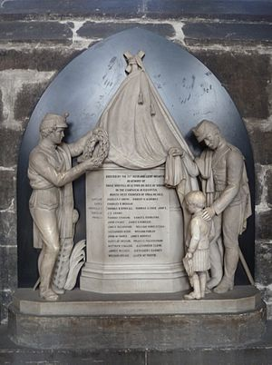 71st (Highland) Regiment of Foot - Memorial to men of the regiment killed or fatally wounded on the North West Frontier of India in 1863