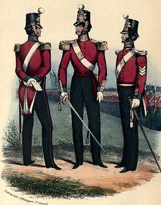 73rd (Perthshire) Regiment of Foot - Regimental uniform, 1851