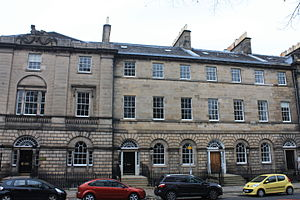 Patrick Robertson, Lord Robertson - Lord Robertson's house at 9 Charlotte Square, Edinburgh (centre)