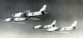 93d Fighter-Interceptor Squadron 4 F-86A overflight Kirtland AFB NM.jpg
