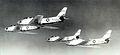 93d Fighter-Interceptor Squadron 4 F-86A overflight Kirtland AFB NM.jpg