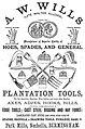 A.W. Wills 1876 advert.jpg