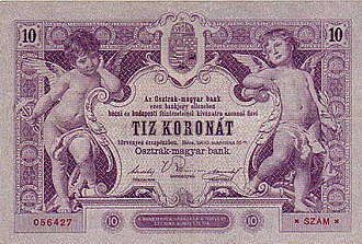 Banknotes of the Austro-Hungarian krone - Image: AHK 10 1900 reverse