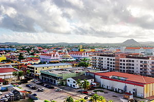 Economy of Aruba - Centre of Oranjestad in 2011.