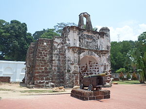 A Famosa - The surviving gate of the A Famosa Portuguese fort in Malacca.