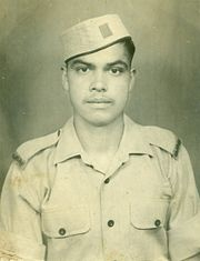 A Garhwal Rifles recruit in the 1970s