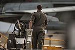 A German air force crew chief wheels a lubrication cart out to his AG-51 Tornado aircraft at Mountain Home Air Force Base, Idaho, Oct. 7, 2013, during exercise Mountain Roundup 2013 131007-F-WU507-022.jpg