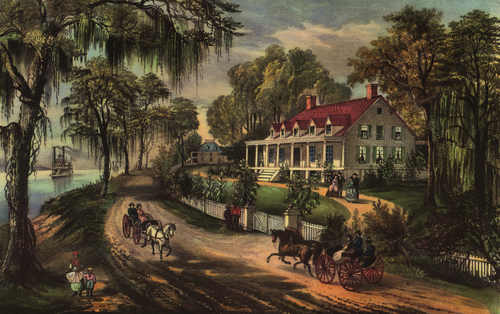 A Home on the Mississippi, Currier and Ives, 1871 A Home on the Mississippi.png