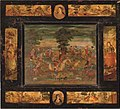 A Qajar lacquer panel, Iran, late 19th century.jpg