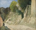 A Steep Ascent in Montigny-sur-Loing (Carl Fredrik Hill) - Nationalmuseum - 18866.tif